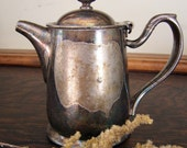 Antique Heavy Silver plated - Nickle Silver - International Silver Teapot - Marked from old Castle