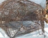 Antique Wire Mouse Trap - Primitive 1915 Live Trap Cage - Sweet Farmhouse Fresh Find