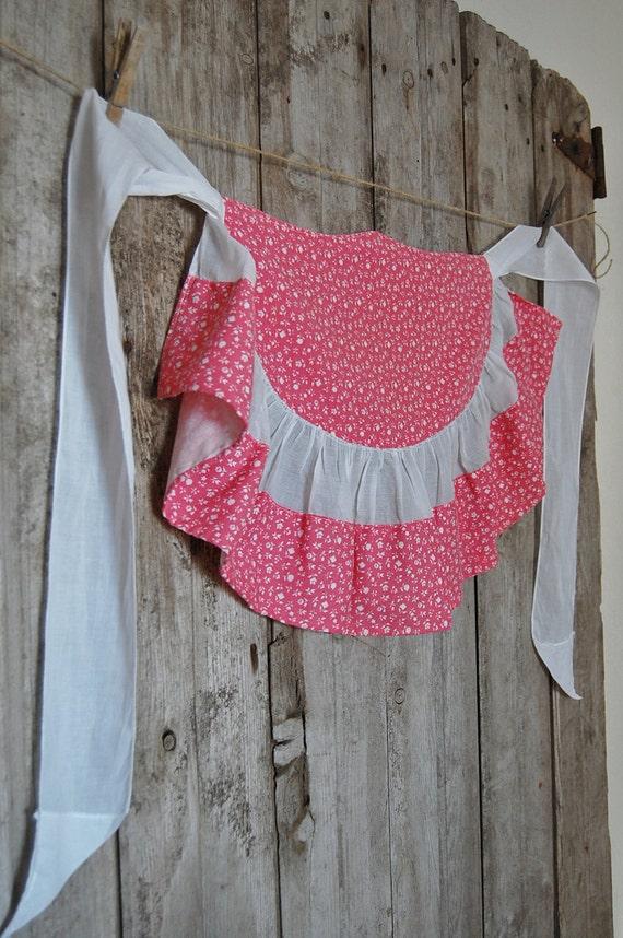Half Apron Vintage - Country Pink - Romantic Prairie Style