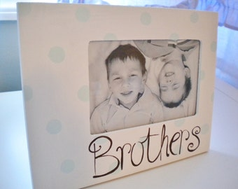 Picture Frame for Kids- Handpainted- BROTHERS Theme