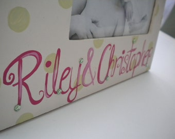 Picture Frame for Kids- Handpainted- BIG SISTER Theme