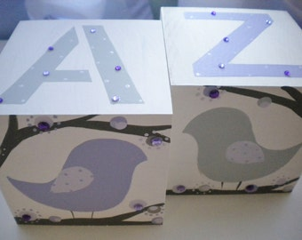 Bookends for Children- LOTSA DOTS BIRDS Theme with Bling