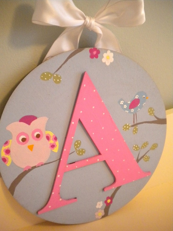 HAYLEY INSPIRED Handpainted Hanging Wooden Letters