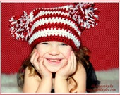 Crochet Spunkie Pom Pom Beanie 2T to 4T months - Made To Oder