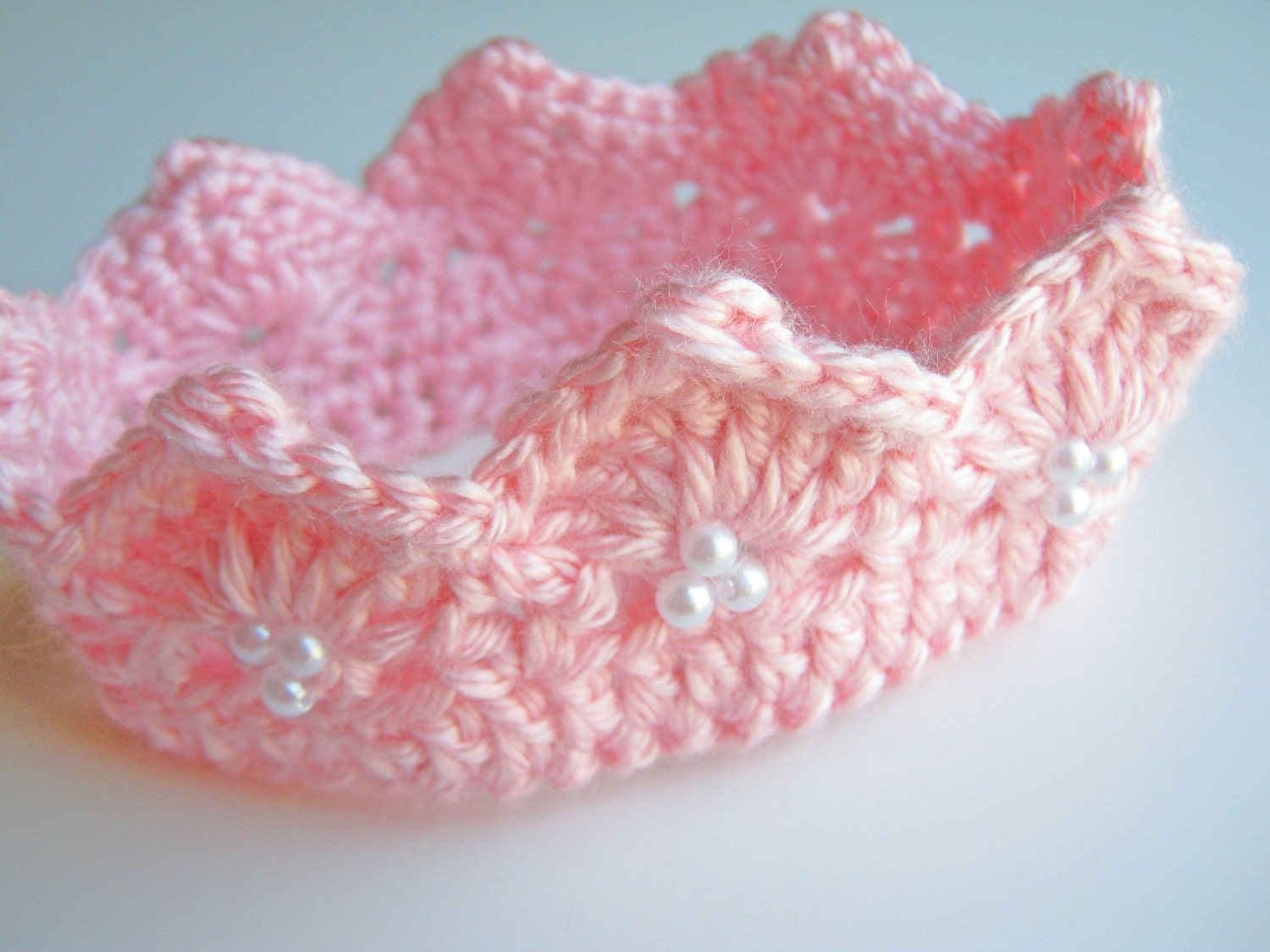 Crochet Baby Prince Princess Crown Tiara 0 to 3 months Made To