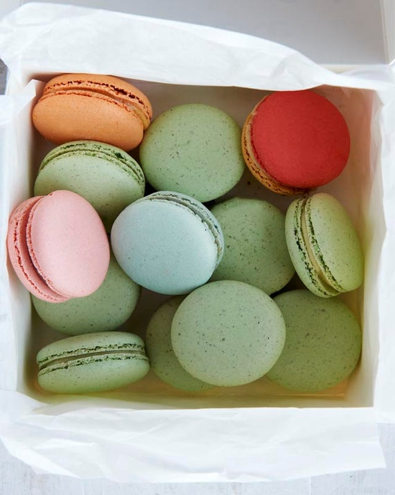 Food Photography, Macarons, Kitchen Decor, Pastel Pink, Pistachio Green, Baby Blue-Color My World