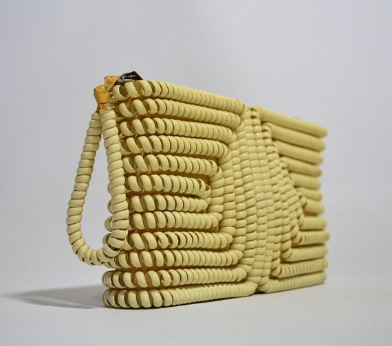 Dial C for Chic... Vintage 40's Cream Telephone Cord Clutch Purse