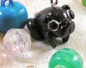 Tiny Black Pug Charm