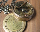 Time Travelers Doohickey ...Working Sundial Compass Steam Punk Necklace ...Time Travel Ready