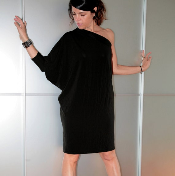Black Loose Fitting Dresses Black Loose Fit Womens One