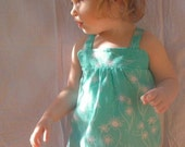 NEW Aqua Dandelion Mini Pinny sizes 6m - 3T - limited run, only 4 available