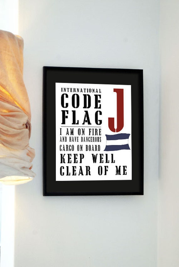 Black Friday Buy 3 get the 4th free - Letter J - Stencil International Code Flag - Stop Carrying Out Your Intentions
