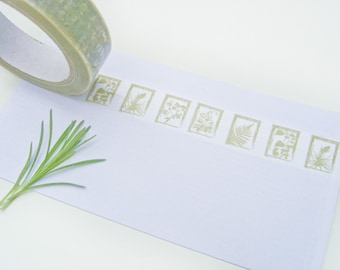 Decorative Sticky Vinyl Tape - Botanical Nature Papercut Design