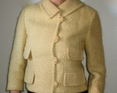 SUMMER SALE - Vintage Arthur Jay (for Higbee) Yellow Mohair Suit Jacket (1950s)