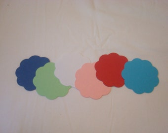 50  - 2 inch - Scalloped Circles