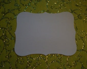 10 5 x 7 inch - White Brackets - Card Stock