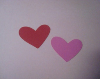 40 Die Cut Hearts -1 3/4  by 1 1/2 inches