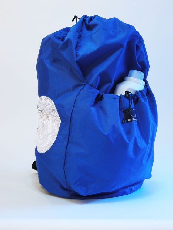 3-Load LAUNDRY BACKPACK Royal/ white mesh