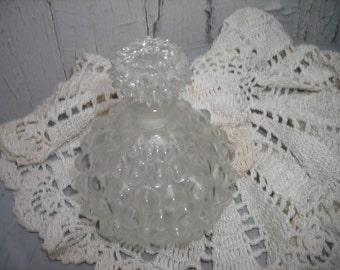 vintage perfume bottle clear glass hobnial vanity