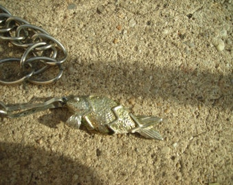 vintage chain belt with fish hook