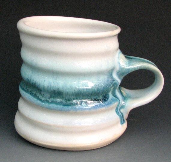 White and Aquamarine Mug 1