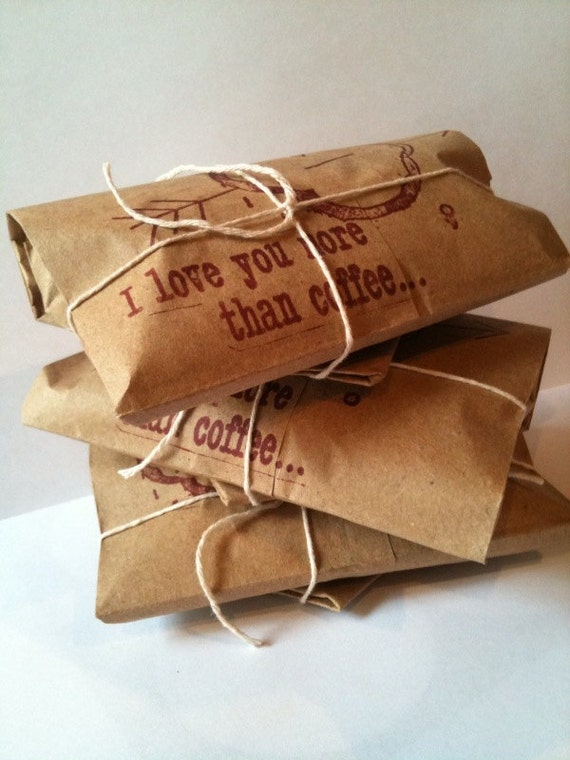 "Mother's Day Gift Idea. Coffee Gift Set of 3. Freshly roasted ""I Love You More Than Coffee"" Unique Gift for Him. Ready to ship."