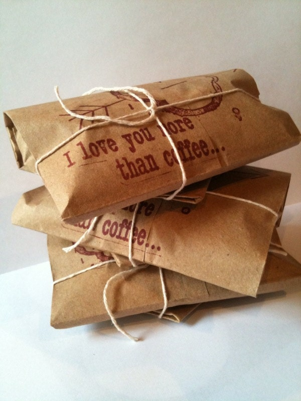 Unique Coffee Lover's Gift Idea. Valentines Day Set of 3