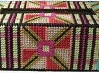 Plastic Canvas Pretty Pinwheel Tissue Box Cover Instant Download