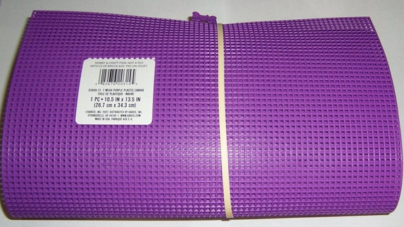 4 Plastic Canvas Sheets Purple 7 Mesh