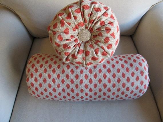 SAHARA Geranium of Bolster pillows 6x14 6x18 6x20