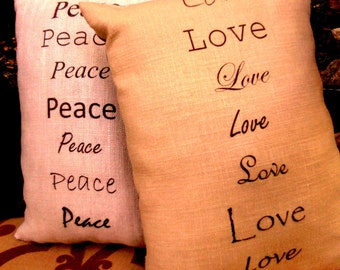 Love in Linen - Decorative French Linen Pillow