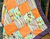 CLEARANCE - Patchwork Jungle Animals Baby Quilt