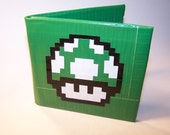 1-Up Mushroom Duct Tape Wallet