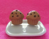Chocolate Chip Muffin Earrings