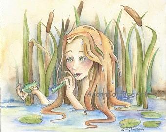 """Mermaid Art...""""Mayim""""....8x10 print"""