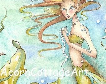 """mermaid art """"Pearl"""""""
