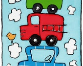 Stacked Cars- Infant/Toddler T-Shirt