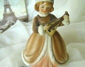 vintage 60's bisque Russian musical figure plays - Somewhere My Love -