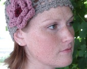 Lace beanie - flower
