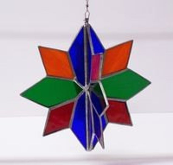 Stained Glass Twirler Rainbow Mobile