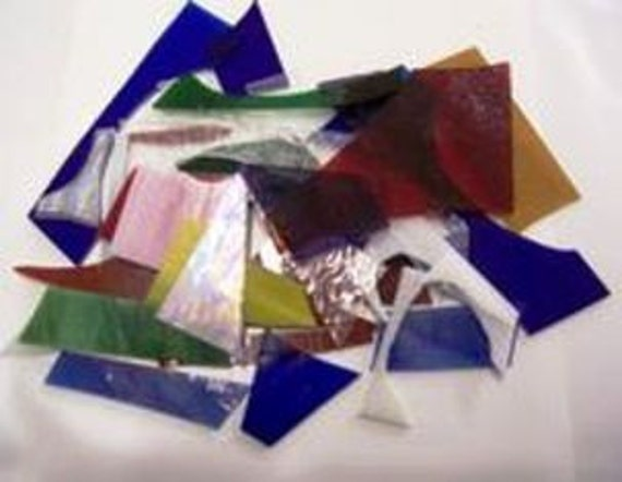 Stained Glass Scraps 3lbs. Great for mosaics & small suncatchers