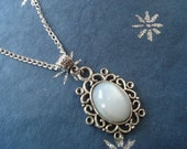 The Vampire Diaries Inspired , Tylor's Moonstone Pendant Necklace