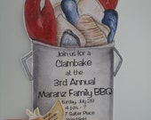 Lobster Party Invitations - Perfect for your next Clam Bake