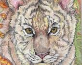 tiger cub at play