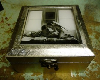 Upcycled Man-Angel Jewelry Box