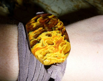 Flame Suede Wrap Bracelet