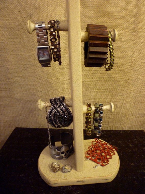 Upcycled Jewelry Organizing Display (Crackle Stand)