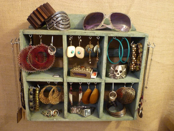 Upcycled Jewelry Organizing Display (Cubbies)
