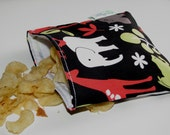 Reusable Snack Bag - Zoology