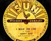 Johnny Cash Sun Record Art Print - 12x18 High Quality Digital Print